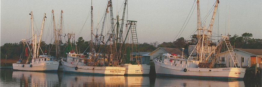 Holden Beach NC Shrimp Boats