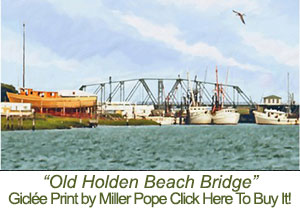Old Holden Beach Bridge Print