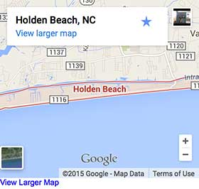 Map of Holden Beach NC