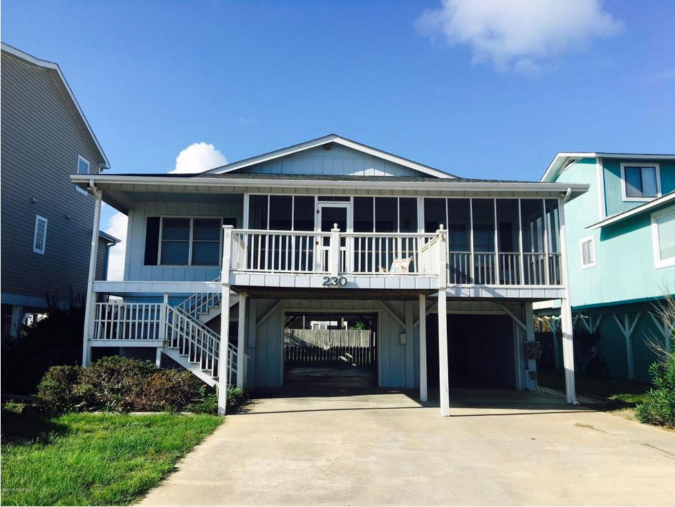 Holden Beach NC Classic-second-row-beach-house